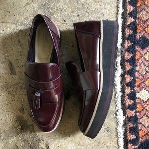 Zara platform loafers
